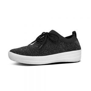 F-Sporty Uberknit Black Crystal Sneakers