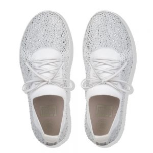 F-Sporty Uberknit Metalic Silver/Urban White Crystal Sneakers