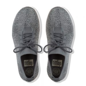 F-Sporty Uberknit Metalic Charcoal/Dusky Grey Crystal Sneakers