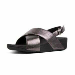 Lulu Molten Metal Sandal Pewter