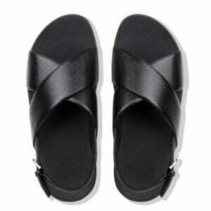 Lulu Molten Metal Sandal Black