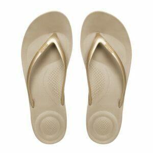 iQuishion Ergonomic Flip Flop Gold