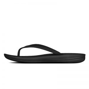 iQushion Ergonomic Flip Flop Black