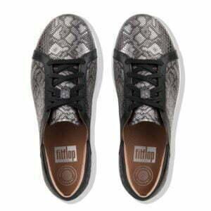 F Sporty II Python Print Sneaker Black