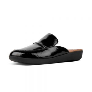 Serene Crinkle Patent Black Leather