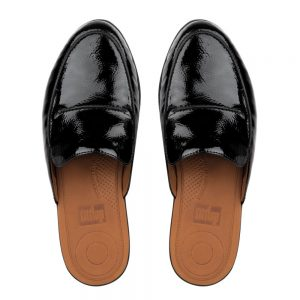 Serene Crinkle Patent Black Leather
