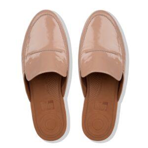 Serene Crinkle PatentTaupe Leather