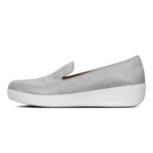 Audrey Glitzy Silver Shoe