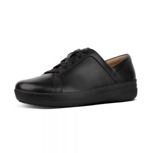 F Sporty II Leather Sneaker Black
