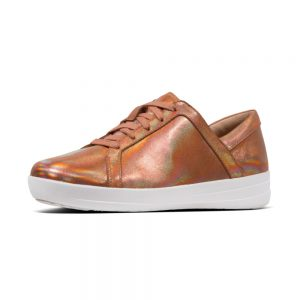 F Sporty II Leather Sneaker Bronze