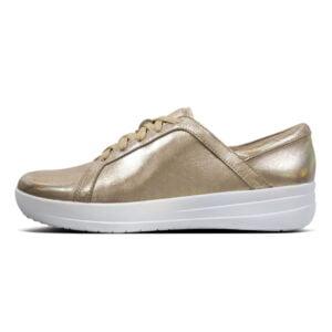 F Sporty II Leather Sneaker Metallic Gold