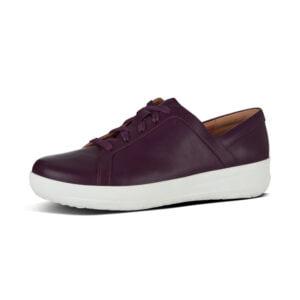 F Sporty II Leather Sneaker Berry
