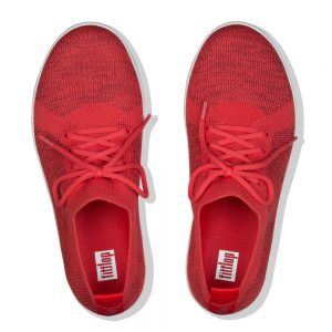 FitFlop F-Sporty Uberknit Passion Red Sneakers