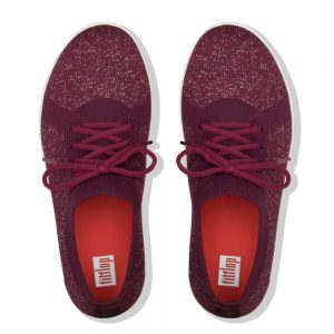 F-Sporty Uberknit Metalic Lingonberry/Dark Red Metallic Sneakers