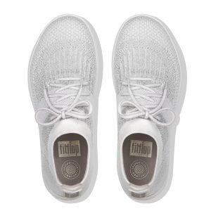 Uberknit Hitop Metallic Sneaker Silver/Urban White