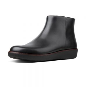 Ziggy Zip Ankle leather Boot Black