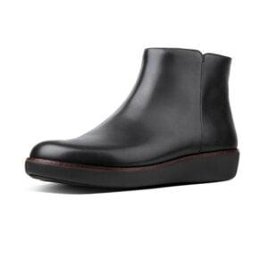 Ziggy Zip Ankle leather Boot Black