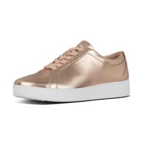 Rally Sneaker in metallic Rose gold.