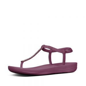 iQushion Ergonomic Flip Flop SPLASH Sparkle Beetroot