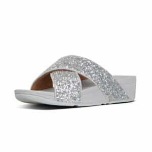 Lulu Glitter Slide Silver