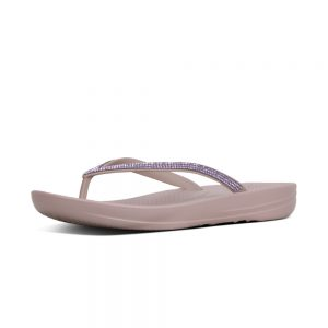 iQushion Ergonomic Flip Flop Sparkle Mink