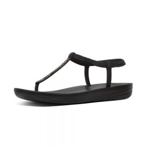 iQushion Ergonomic Flip Flop Splash Sparkle Black