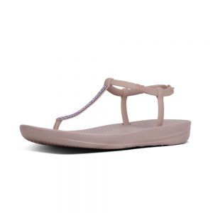 iQushion Ergonomic Flip Flop Splash Sparkle Mink