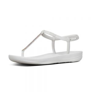 iQushion Ergonomic Flip Flop Splash Sparkle White