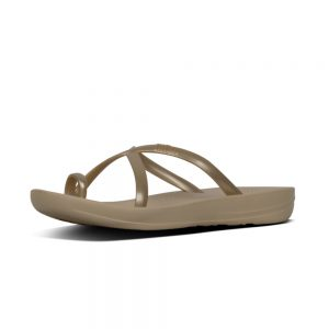 iQuishion Wave Flip Flop metalic Gold Pearlised