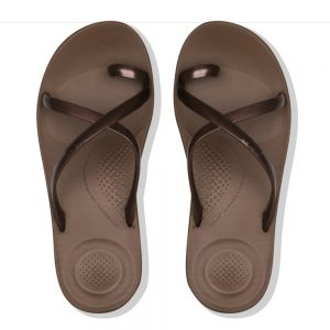 iQuishion Wave Flip Flop metalic Bronze Pearlised