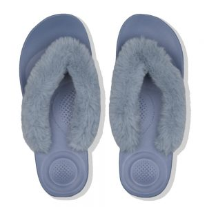 iQushion Fluffy Flip Flop Blue