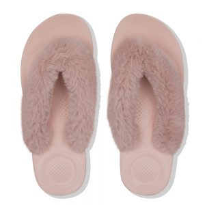 iQushion Fluffy Flip Flop Mink