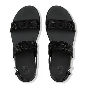 Barra Crystalled sandal Black