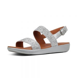 Barra Crystalled sandal Silver