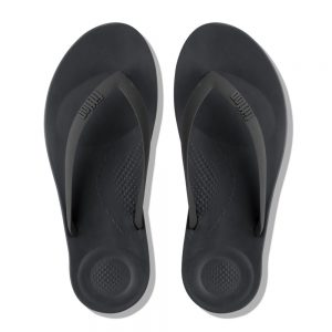 iQuishion Ergonomic Flip Flop Men's Charcoal