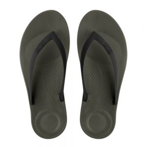 iQuishion Ergonomic Flip Flop Men's Camoflage Green Mix