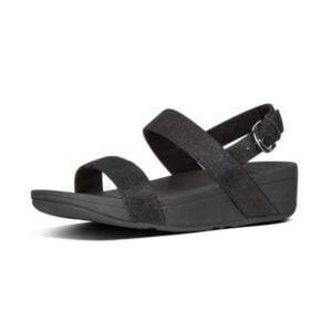 Lottie Glitzy Black Sandal