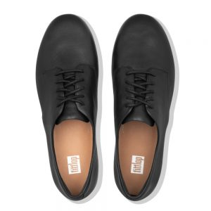 Adeola Leather Lace-up Derby Black