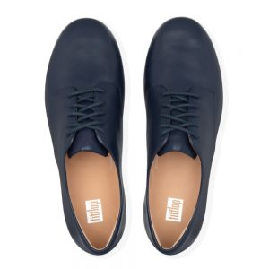 Adeola Leather Lace-up Derby Navy