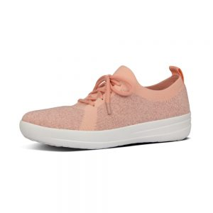 FitFlop F-Sporty Uberknit Coral Pink Sneakers