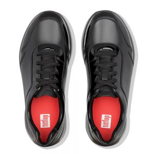 Ida Flex Black Leather and Patent Upper Sneaker