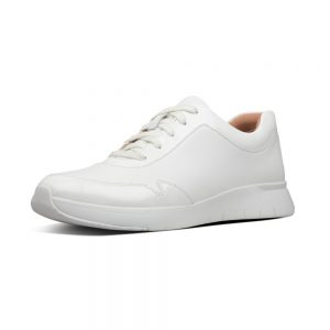 Ida Flex White Leather and Patent Upper Sneaker