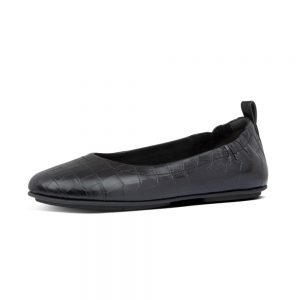 Allegro Ballerinas Croco Black