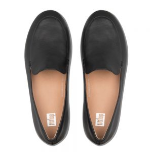 Lena Leather Loafers Black