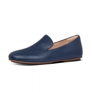 Lena Leather Loafers Navy