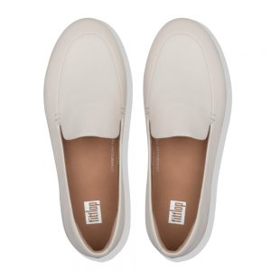 Lena Leather Loafers Stone