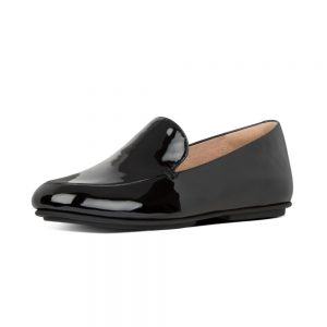 Lena Leather Loafers Black Patent