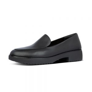 Talia Leather Loafers Black