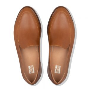 Talia Leather Loafers Tan