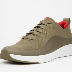 Eversholt Olive Green Knit Sneaker